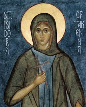 Преподобная Исидора Тавенская, Христа ради юродивая