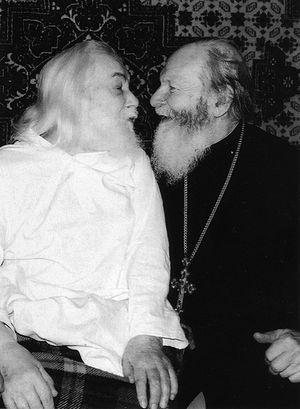 Архимантрит Иоанн (Крестьянкин) и протоиерей Герасим Иванов