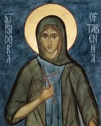 Преподобная Исидора, Христа ради юродивая